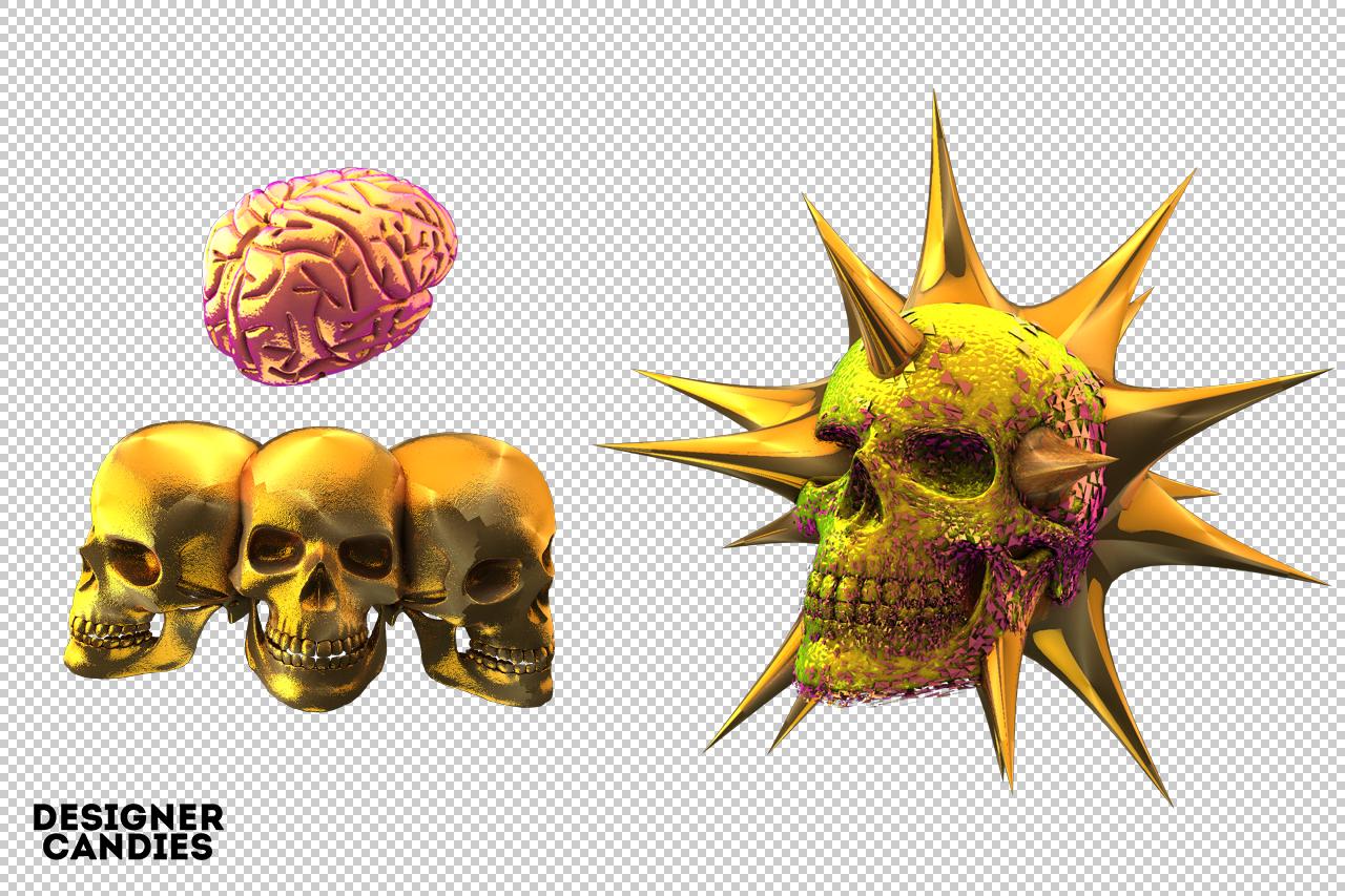 Free 3D Skull Renders