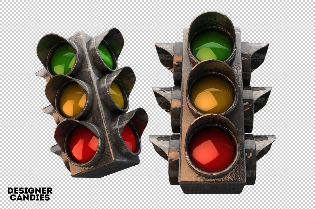 Free 3D Traffic Light Renders