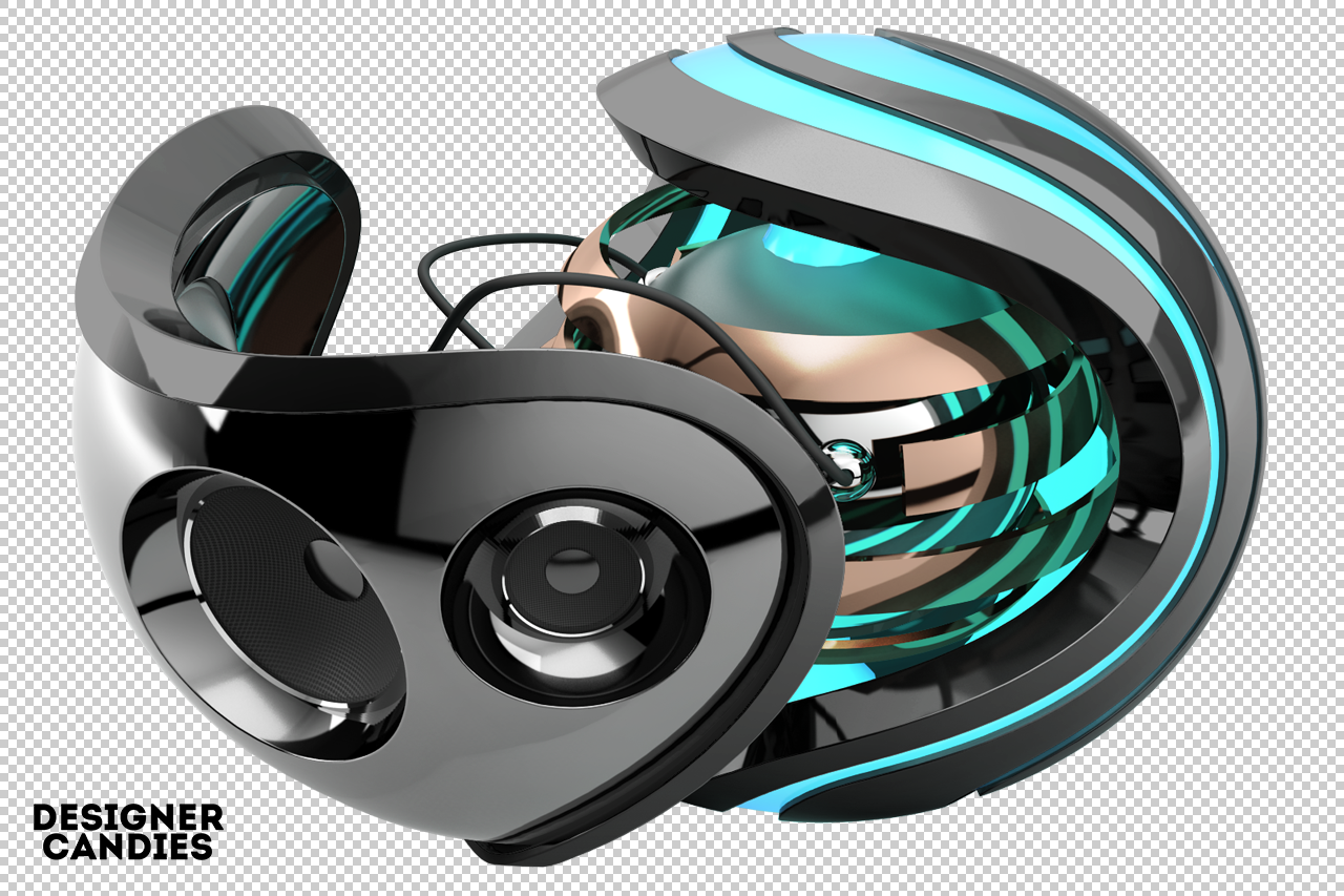 Abstract 3D Orb Render