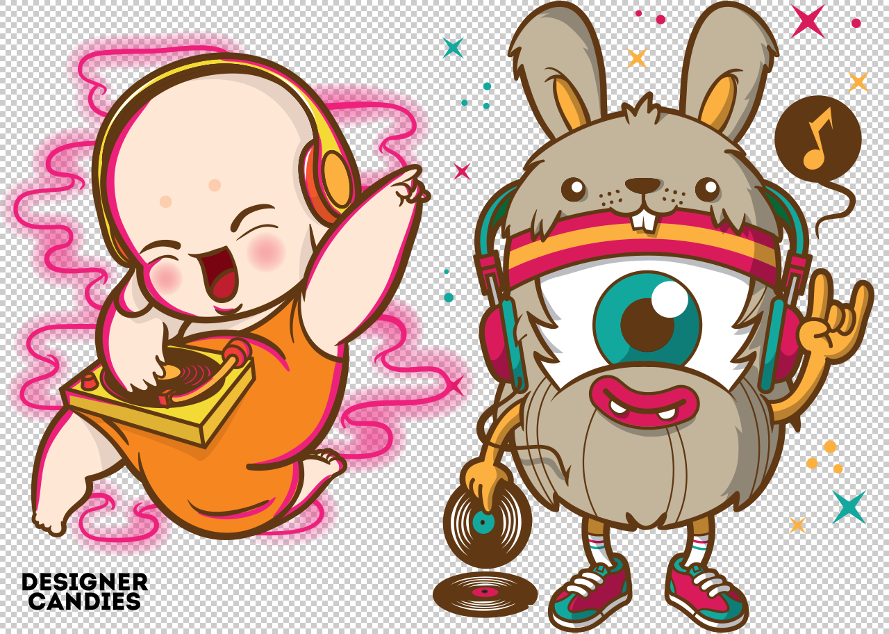 Free DJ Character Illustrations