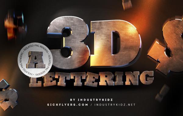 Free 3D Lettering Renders