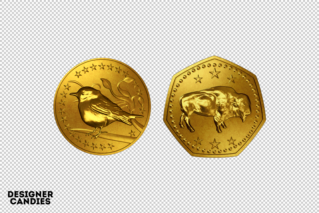 Free Gold Coin Renders