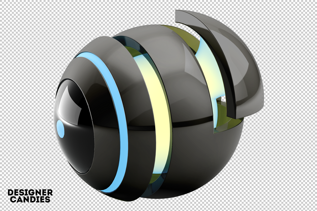 Free Abstract Orb Render