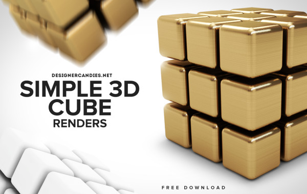 Simple 3D Cube Renders