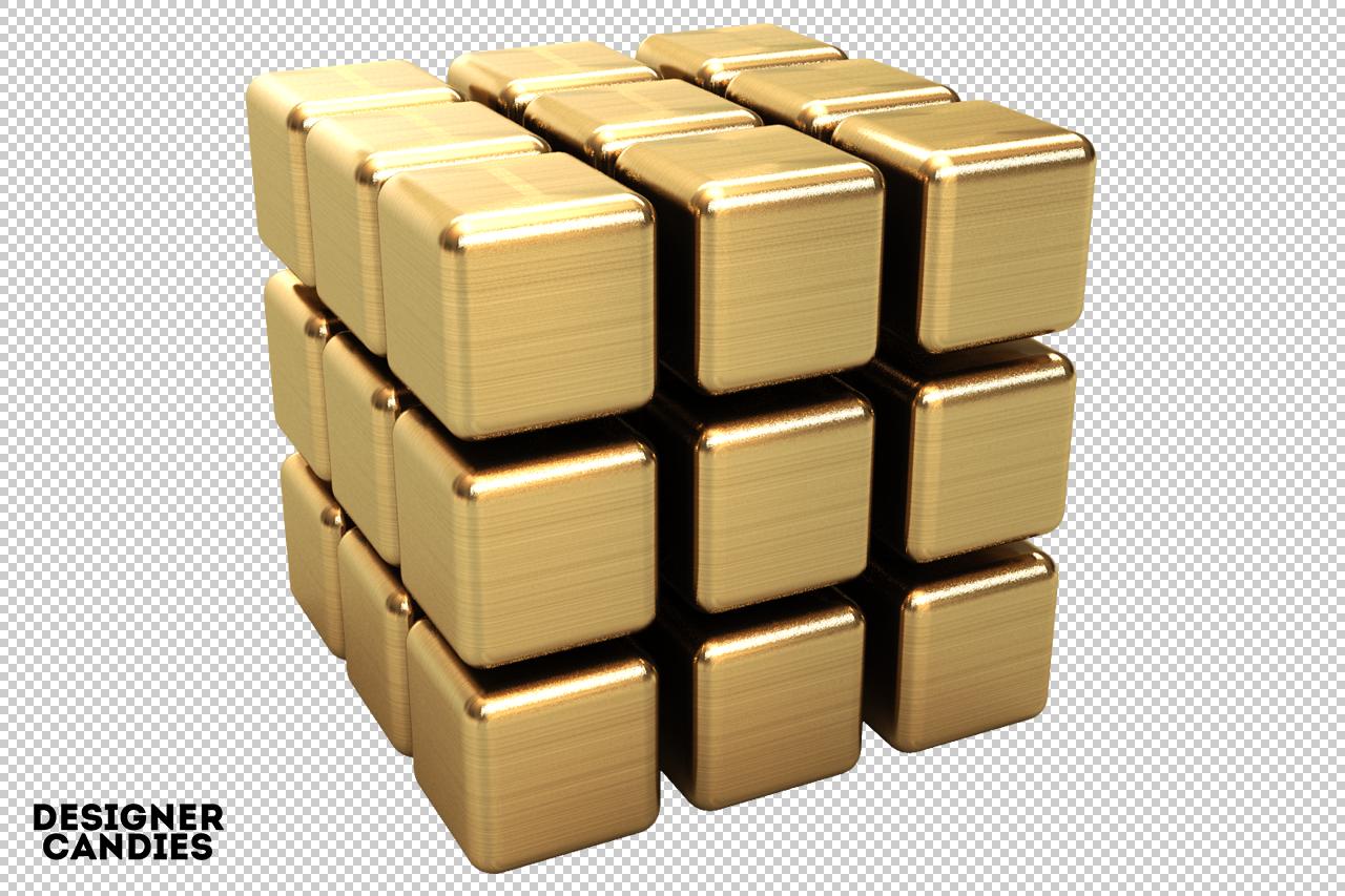 free simple cube renders