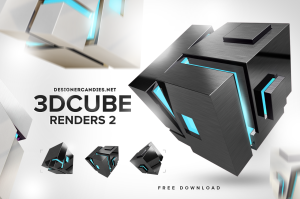 Stylish 3D Cube Renders Pack 2