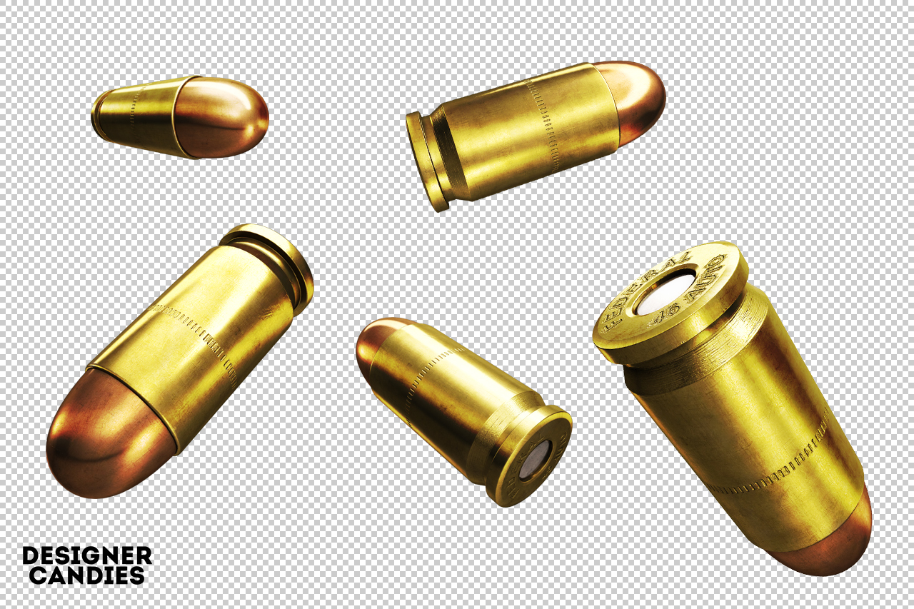 3D bullets for Photoshop