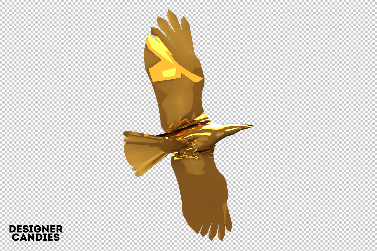 Free Gold Bird Render
