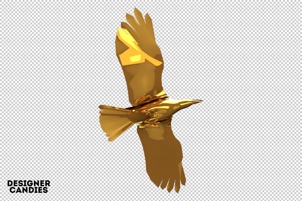 Free Gold Bird Render