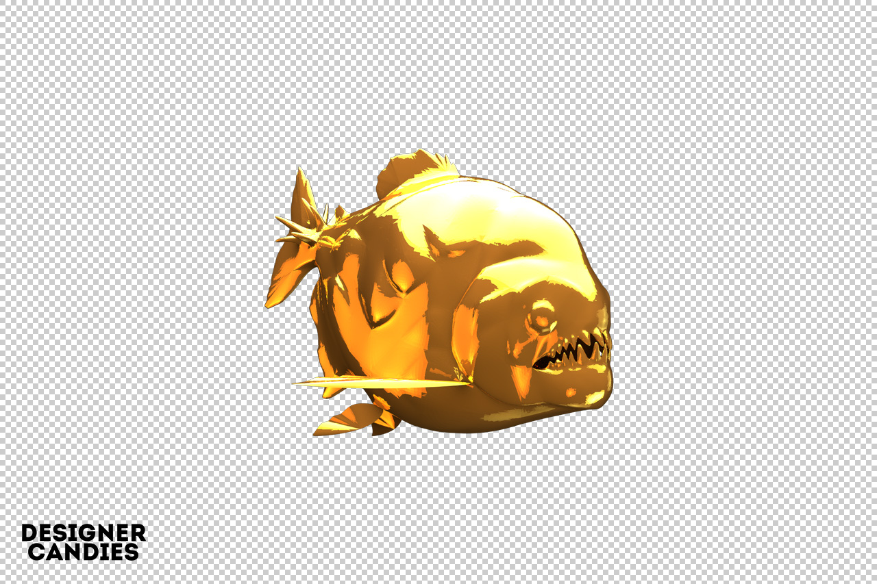 Gold Piranha Render