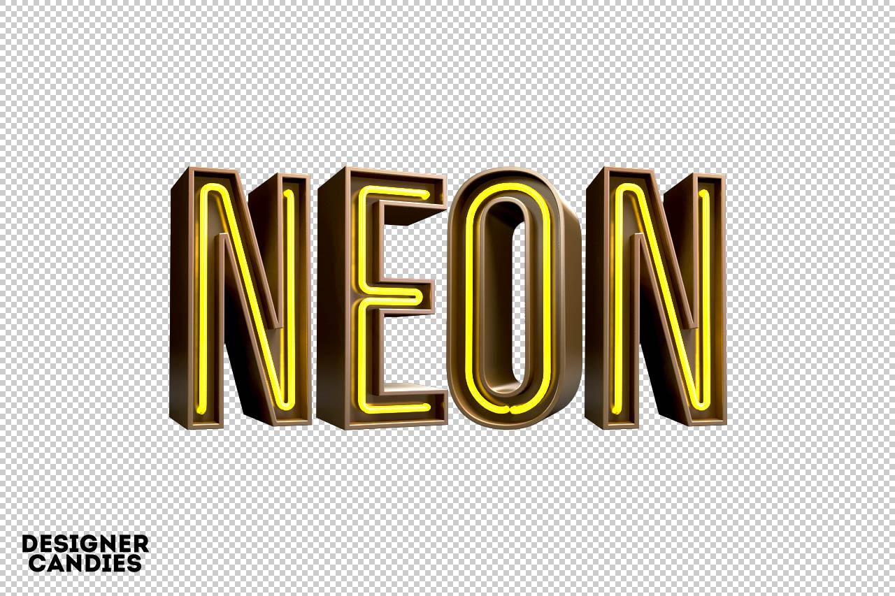 3D Neon Lettering
