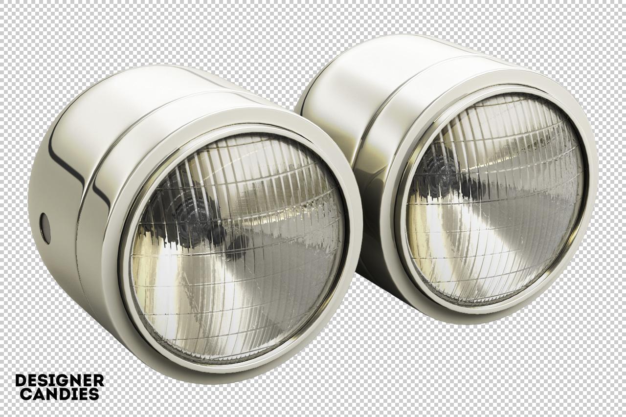 3D Car Light Renders