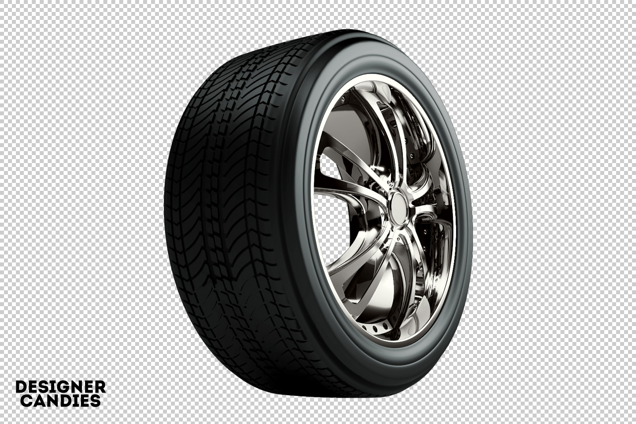 3D car wheel with tyre png