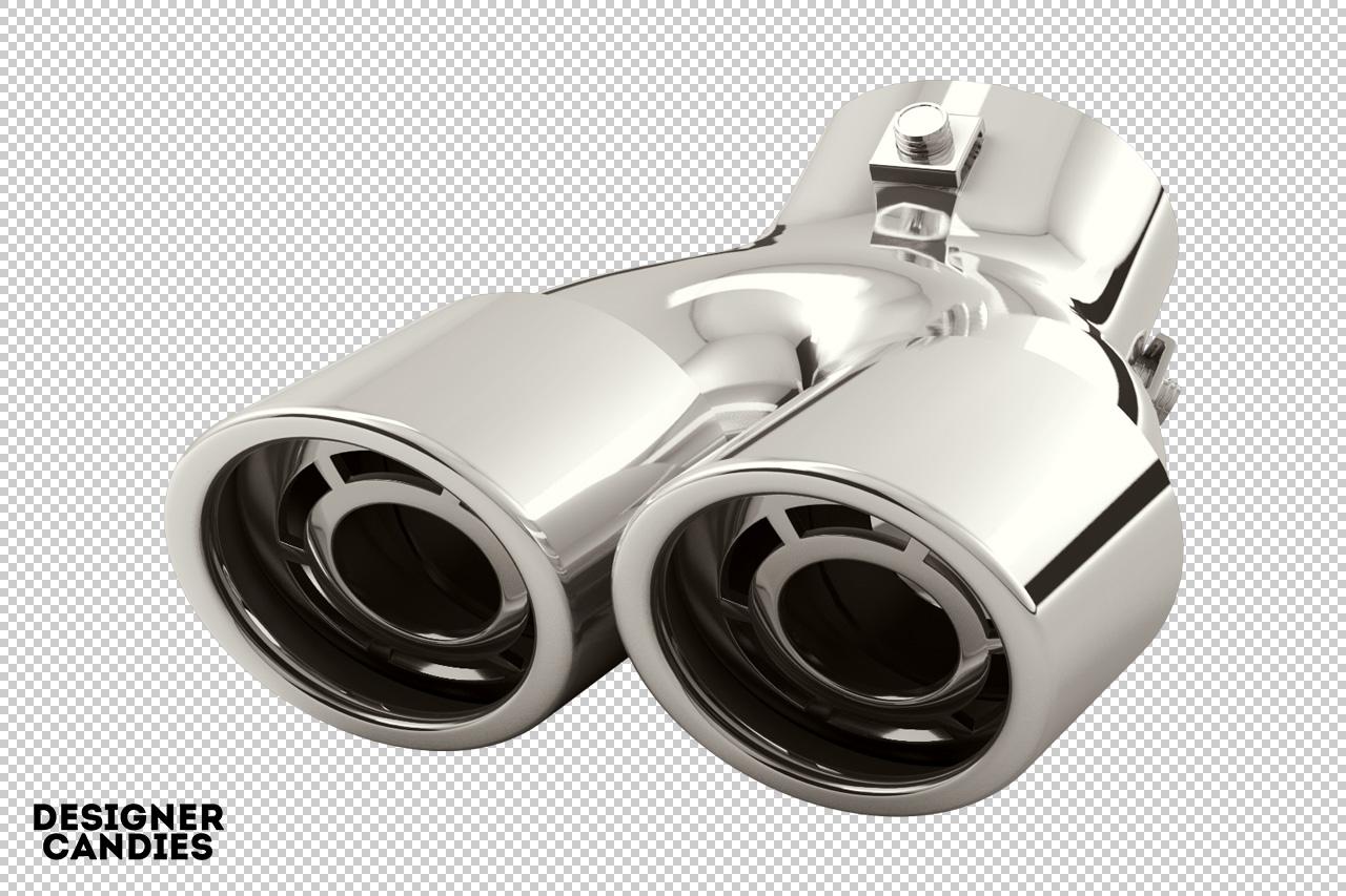 3D Chrome Exhaust Muffler