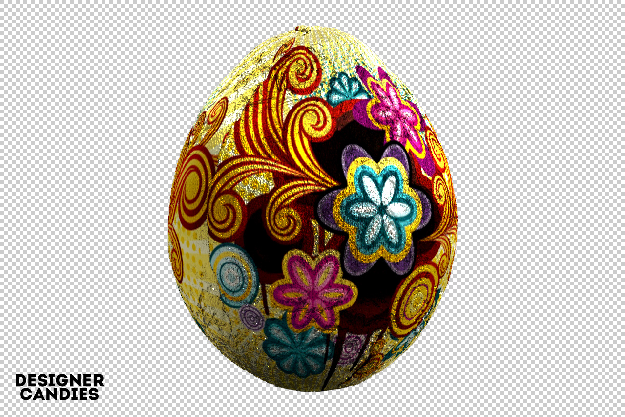 Easter Egg in Foil