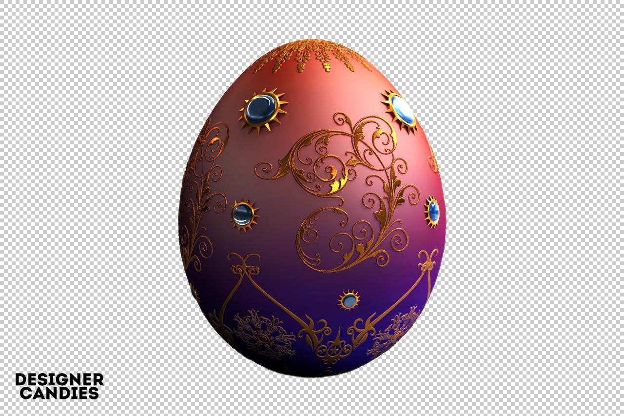 3D Faberge Egg Render