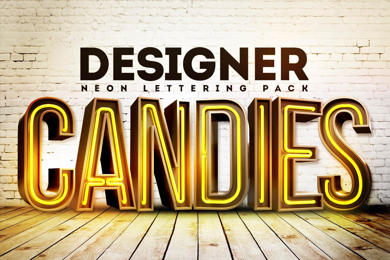 Neon Lettering Pack