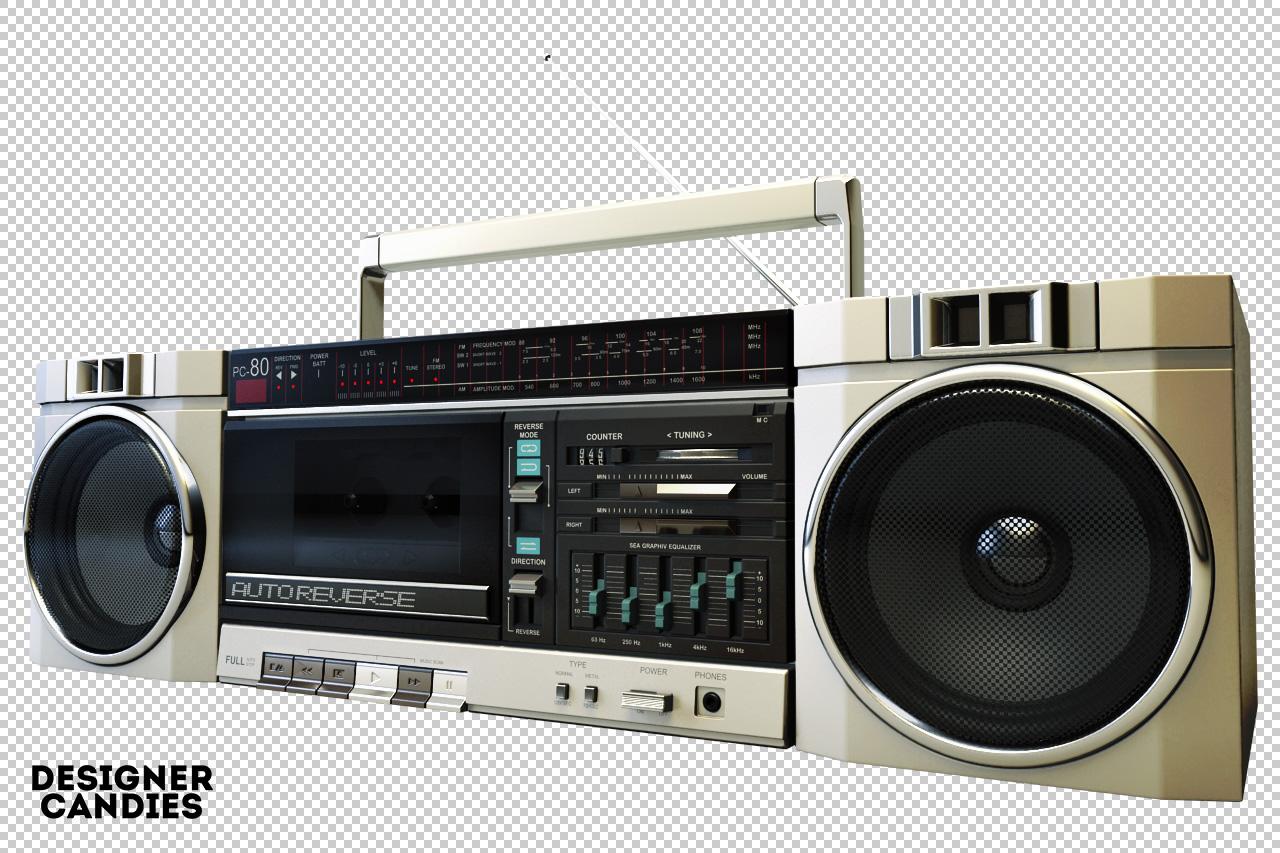 Retro Boombox Render