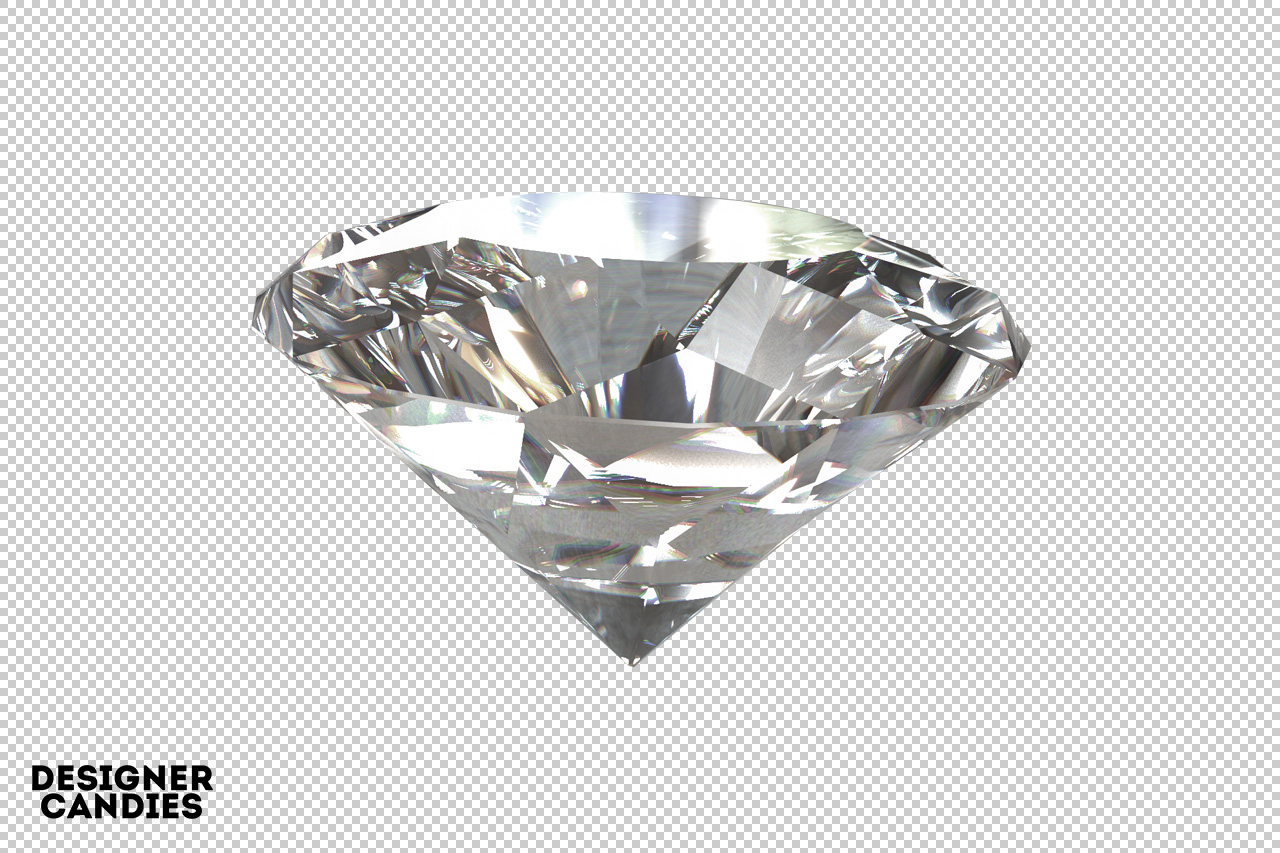 Diamond Render with Transparent Background