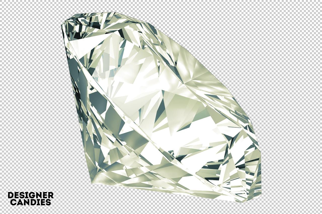Transparent Background - Diamond