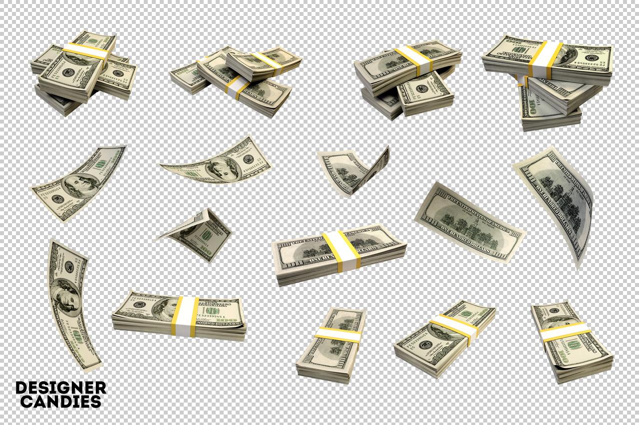 Falling Money & Money Stacks Pack