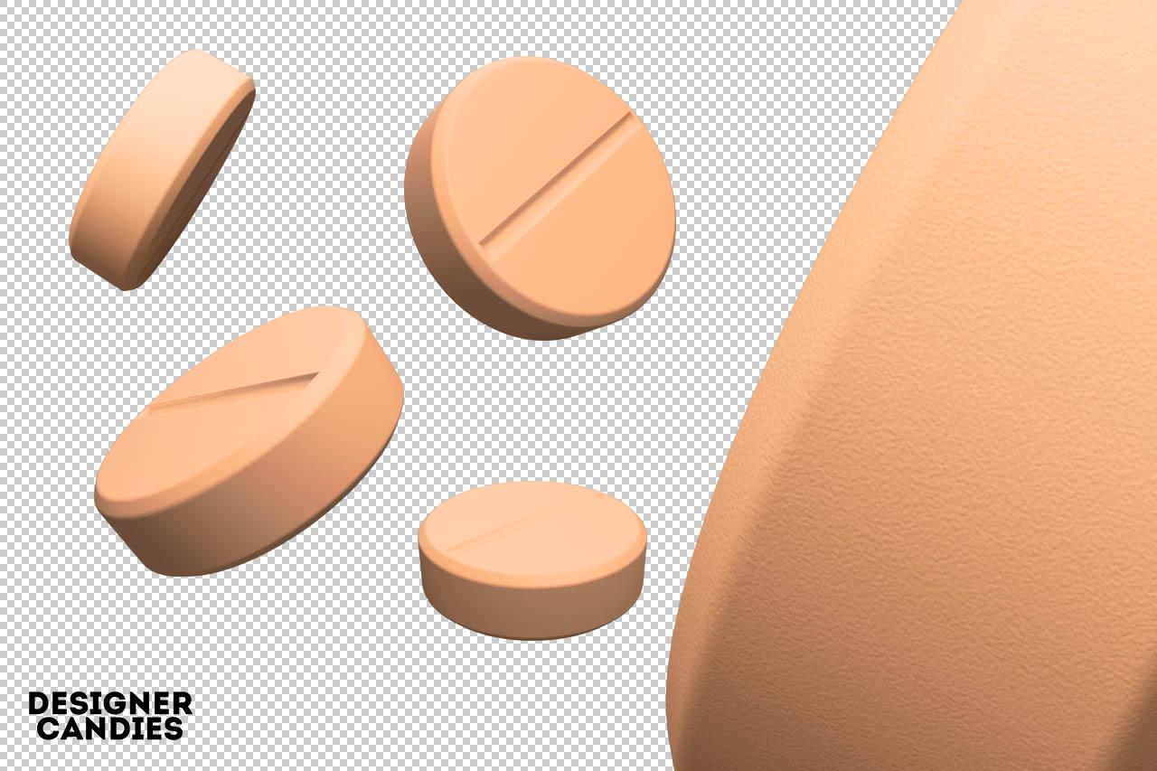 Tablet / Drug Renders