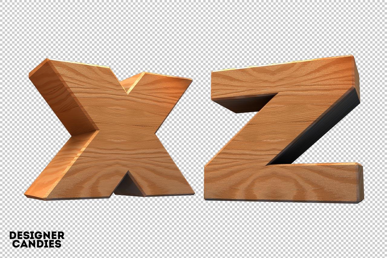 Free Wooden Lettering Renders