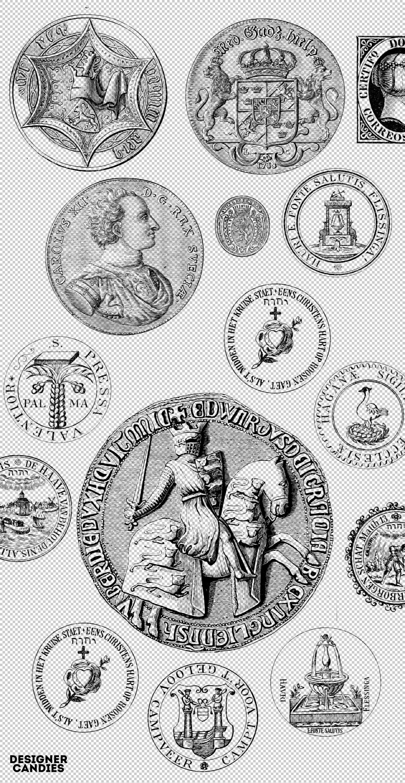 Vintage Stamp brushes for Photoshop
