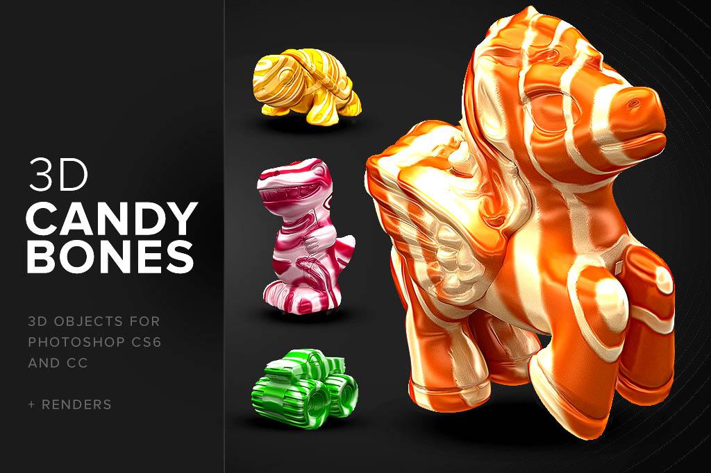 CandyBones - Photoshop 3D Objects - DesignerCandies