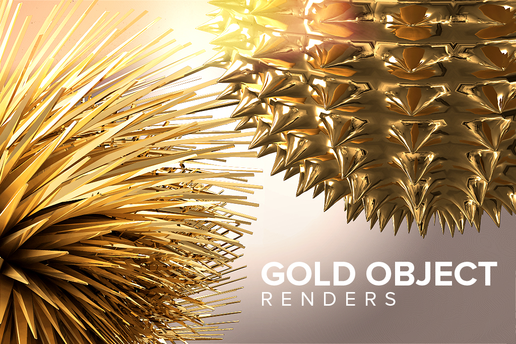 Free Gold Object Renders - DesignerCandies