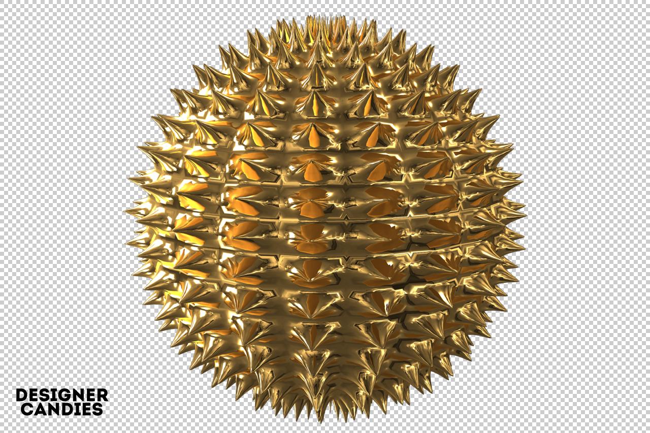 Gold Sphere Render