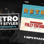Free Retro Text Styles for Photoshop CC