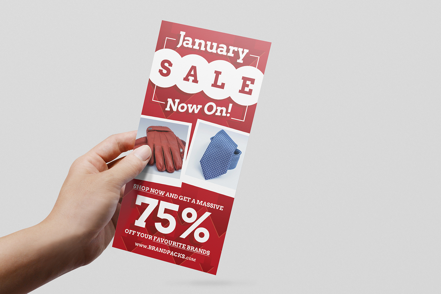 Free January Sale DL Card Template