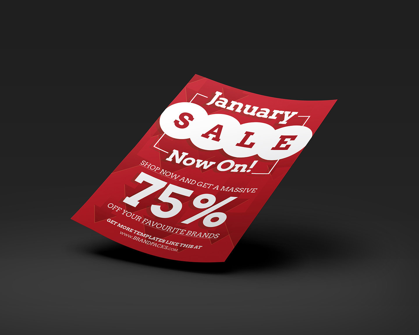 Free January Sale Poster Template