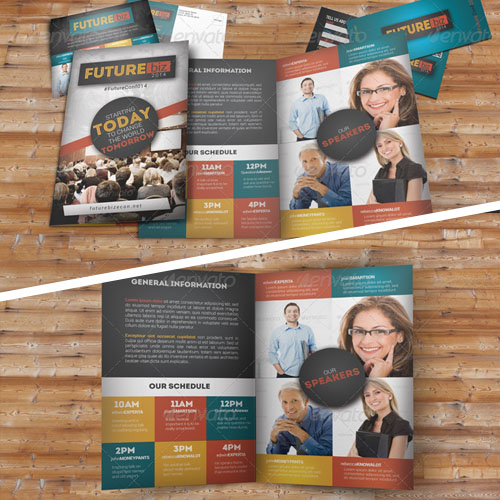Future Conference BiFold Brochure Template
