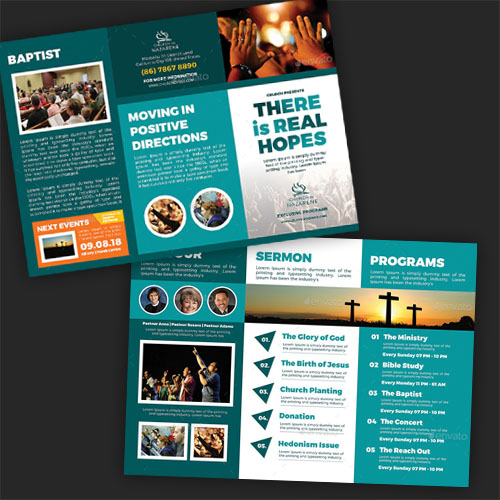 Real Hopes Trifold Brochure Template