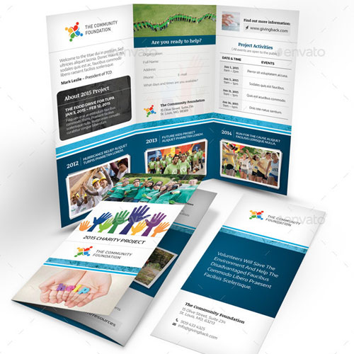 Community Trifold Brochure Template