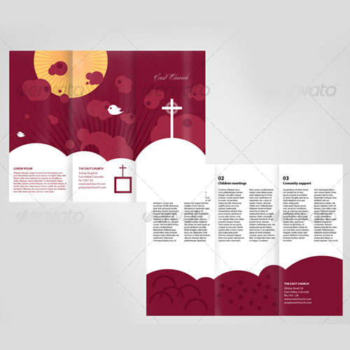 Local Church Trifold Brochure Template