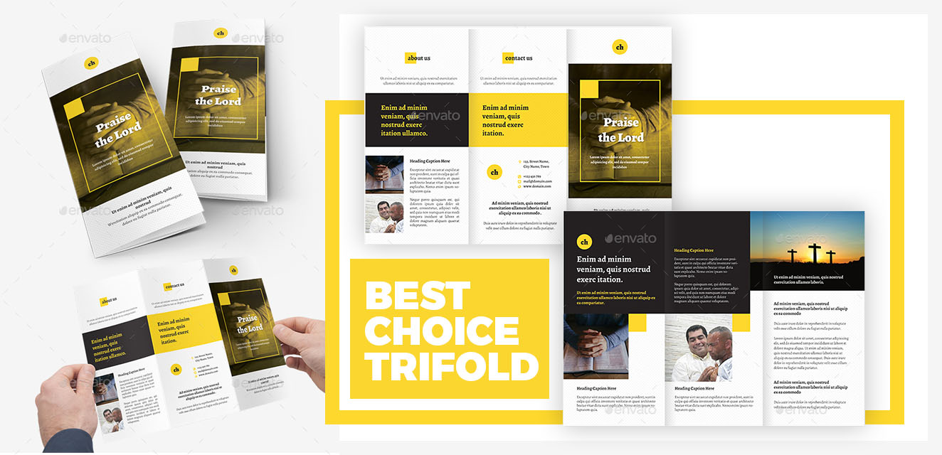 Trifold Brochure Templates for Churches