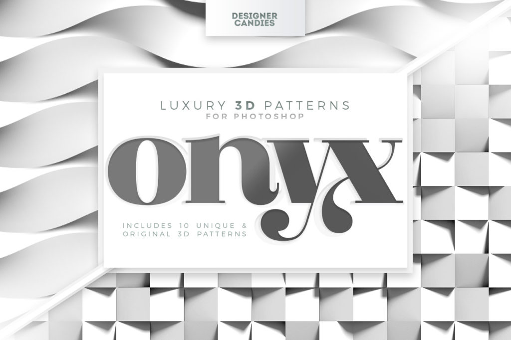 ONYX - Luxury 3D Patterns for Photoshop