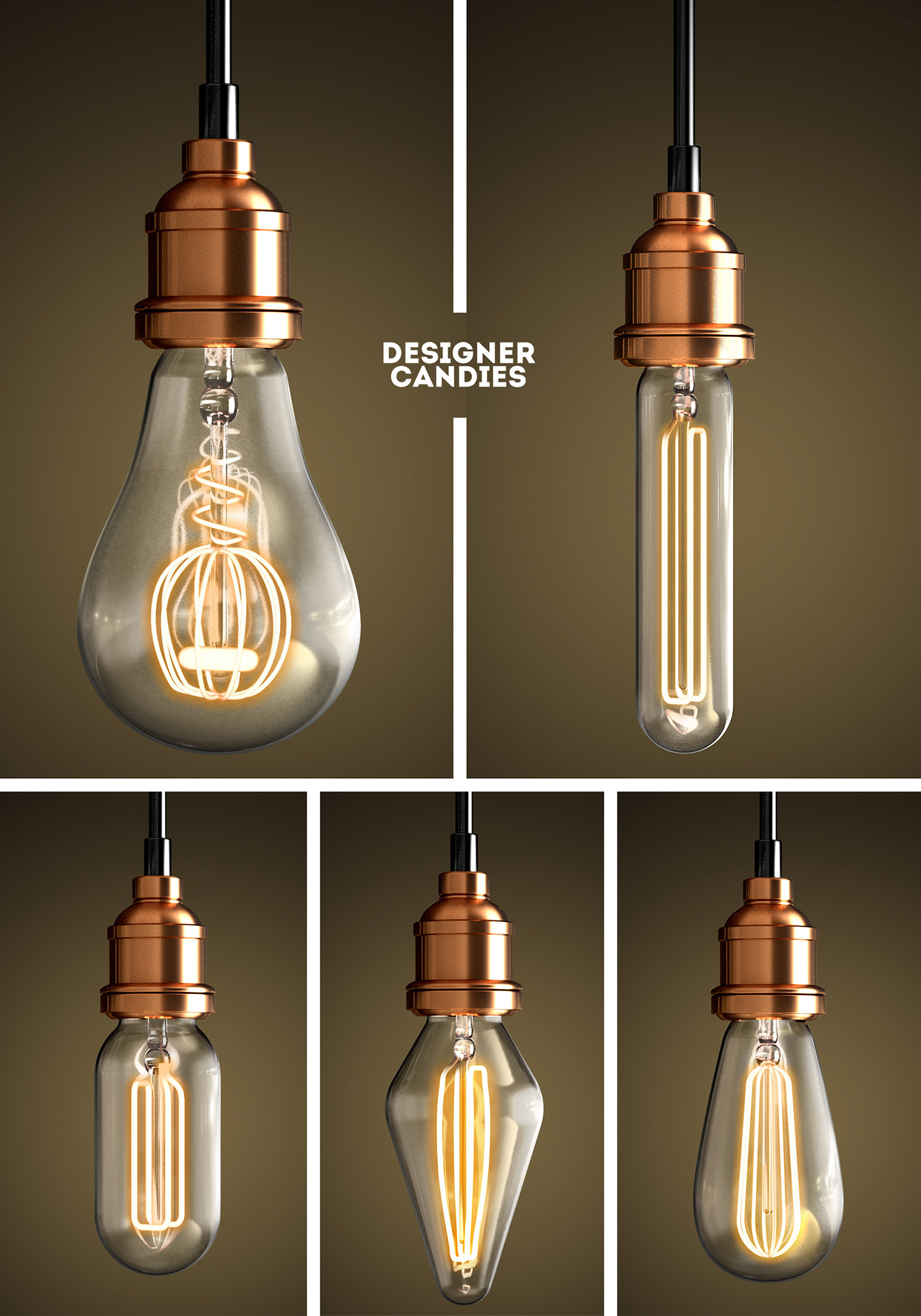 Transparent Lightbulb Renders
