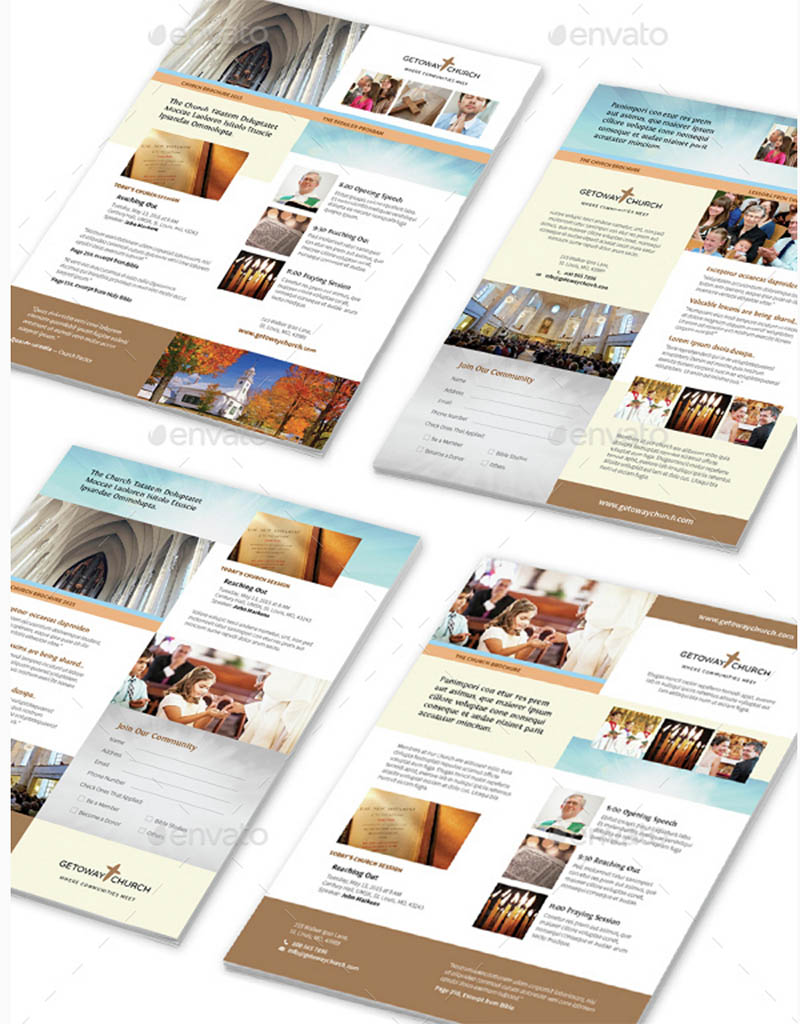 4 Church Flyer Templates for InDesign