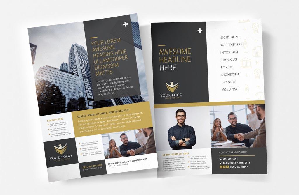 Black & Gold InDesign Flyer Template