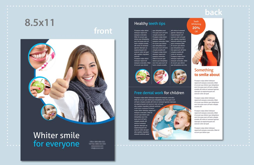 Blue & White InDesign Business Flyer Templates