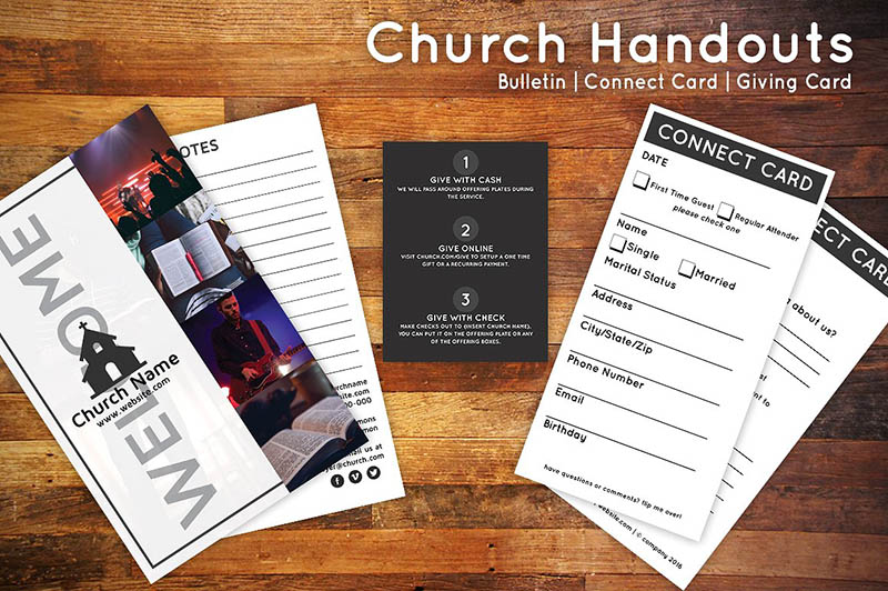 Church Bulletin Templates for InDesign