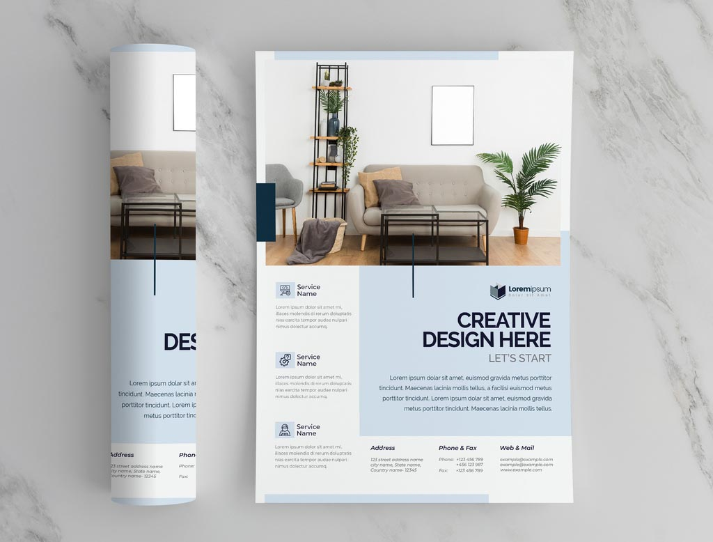 Clean Corporate InDesign Flyer Template Layout