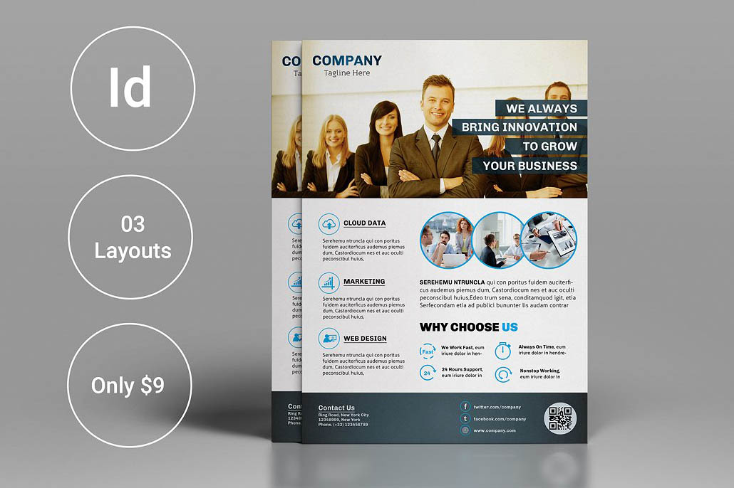 Clean Corporate InDesign Flyer Template