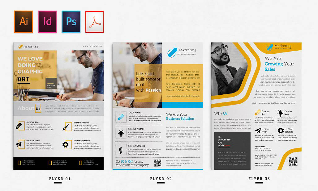 Corporate / Business InDesign Flyer Template
