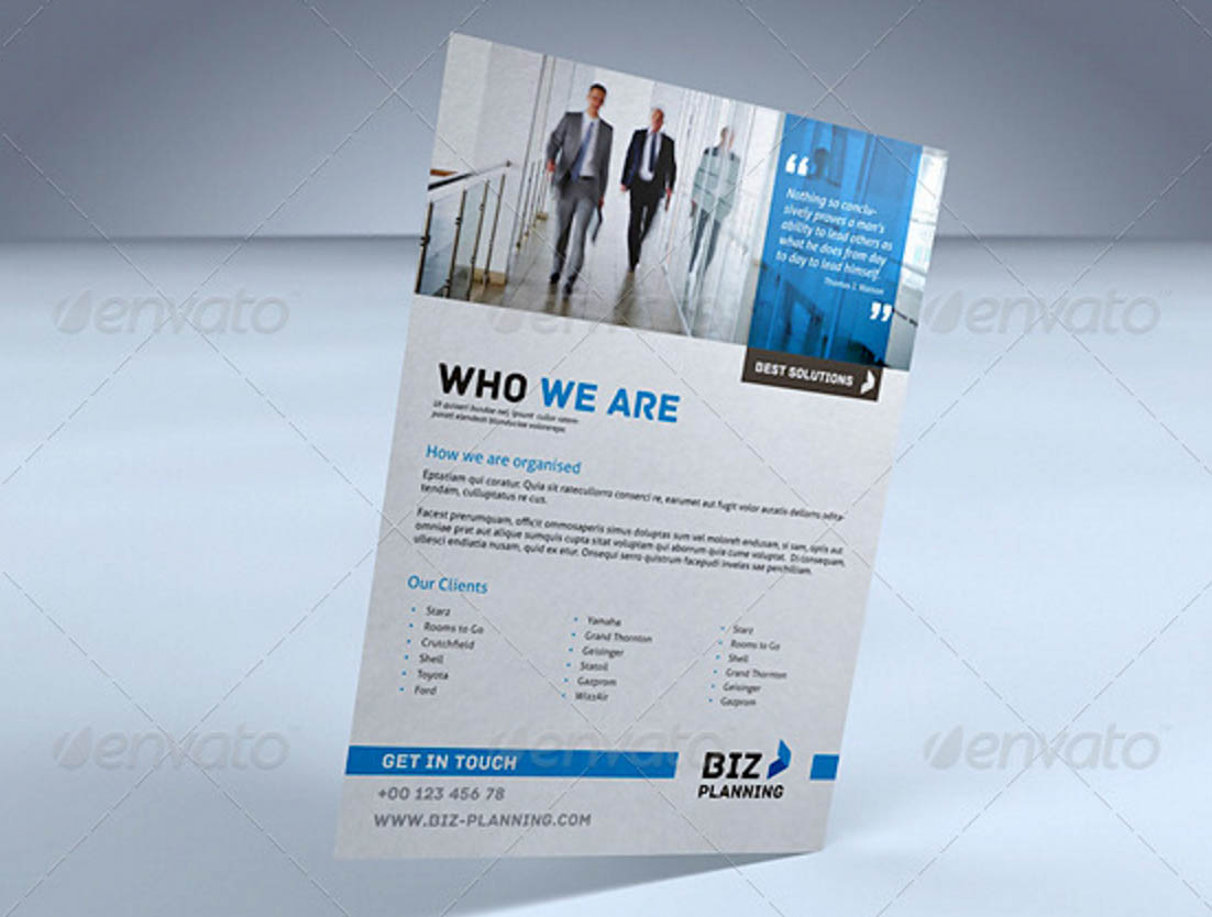 Corporate Flyer / Ad for InDesign
