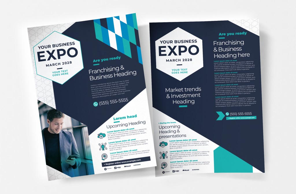 Corporate InDesign Flyer for Business Expos & Seminars
